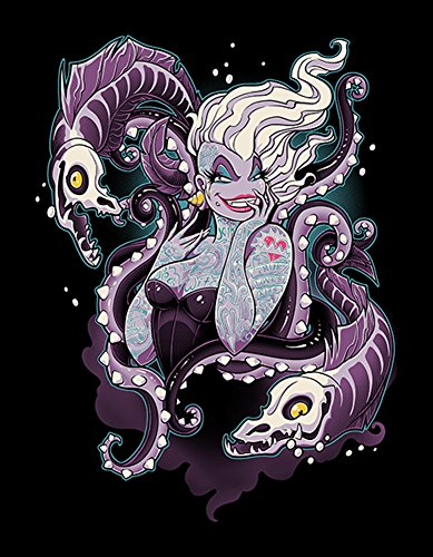Lowbrow Art Body Language by Jehsee Tattooed Ursula Villain Little Mermaid Canvas Art (Disney Villains Halloween Decorations)