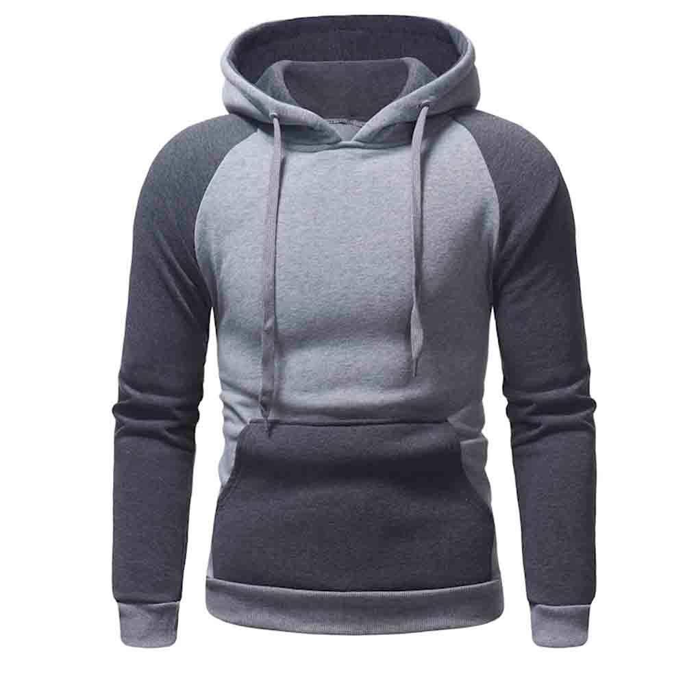 Longra ☂☂ ☂☂ ☂☂✿✿ Hombre Winter Running Pullover Top Patchwork Sudadera: Amazon.es: Ropa y accesorios