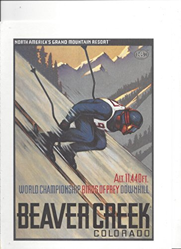 Illustrated 2002 PRINT AD For Beaver Creek Colorado Ski Resort Birds Of Prey - Stores Creek Beaver