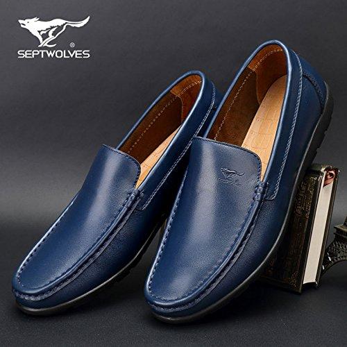 Aemember da uomo scarpe casual scarpe autunno traspirante auto Lazy Bones scarpe da uomo scarpe di fagioli di soia scarpe uomini e ,37, blu
