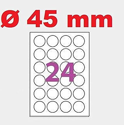 500 A4 hoja de etiqueta adhesiva 24 mm ronda auto-adhesivo ...