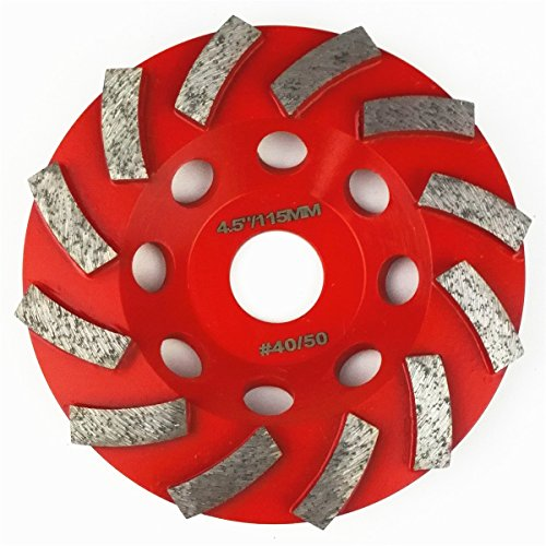 DIATOOL Diamond Segmented Turbo Grinding Cup Wheel for Concrete and other construction material (4.5 inch (Segmented Cup)