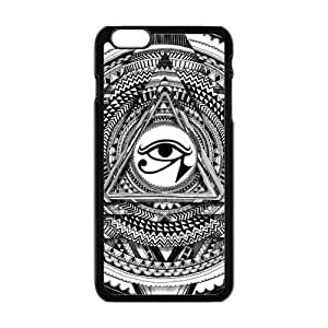 "Danny Store Hardshell Cell Phone Cover Case for New iPhone 6 Plus (5.5""), Pyramid Illuminati Don't Trust Anyone Triangle"