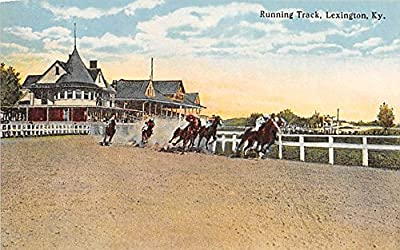 Running Track Lexington, Kentucky, KY, USA Old Vintage Horse Racing Postcard Post Card