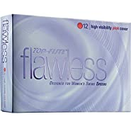 Top-Flite Flawless High Visibility Pink Golf Balls - 12 Count Designed for Women's Swing Speeds