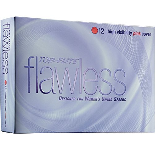 Top-Flite Flawless High Visibility Pink Golf Balls - 12 Count Designed for Women's Swing Speeds by Top Flight