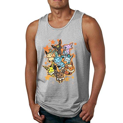 Eevee Evolution - POY-SAIN Fashion Men's Adults Tank Top Shirt SizeM Ash (I M A Super Hero Costume)