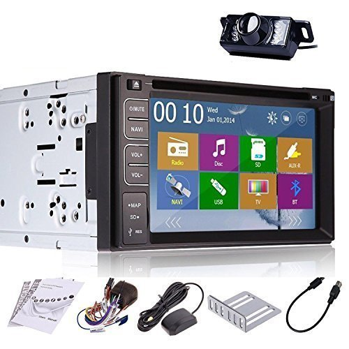 Pupug 6.2-Inch Touch Screen Universal Double Din In Dash GPS