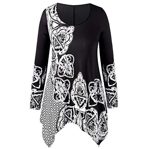 Fashion Women Plus Size O-Neck Folk-Custom Print Irregular Top Blouse T-Shirt for $<!--$7.89-->