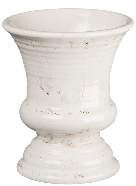 Amazon Sullivans Ceramic Vase 5 X 6 Inches Distressed White