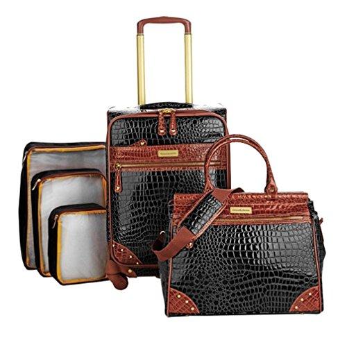 Samantha Brown 5-Piece Classic Luggage Set - Black
