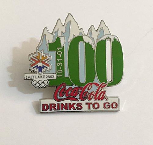 Rare Coca-Cola Drinks To Go Salt Lake City Winter Olympics Countdown Pin LE/500-100 Days Left