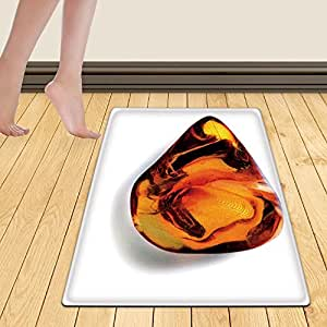WelFriday custom door mats 115552582 Amber on wite background with shadow,W22 x L36 inch