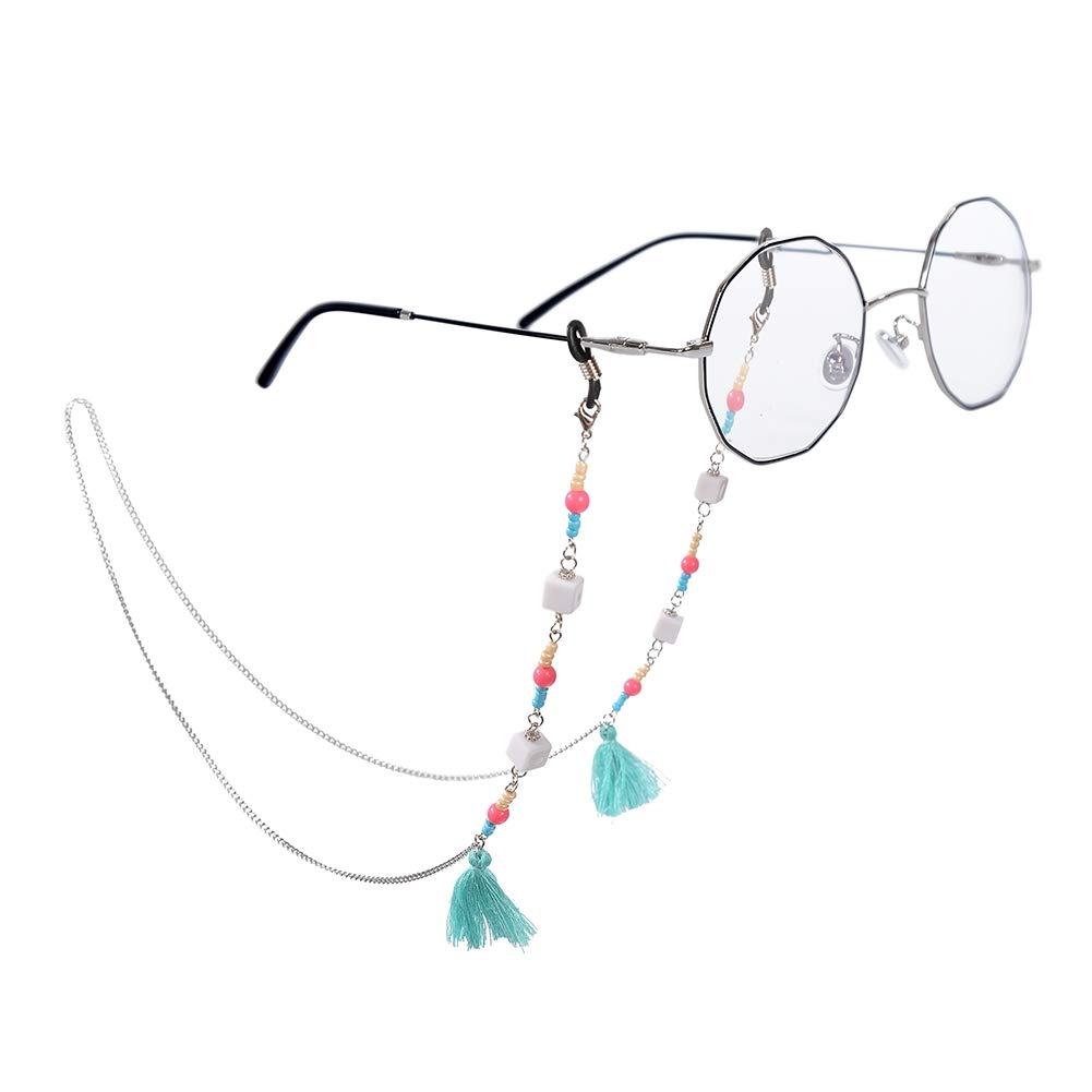 Babasee Fringed Beads Sunglasses Chain Reading Glasses Chain Holder neck strap Rope