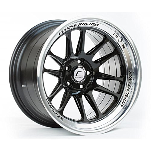 Cosmis Racing XT-206R 18x11 +8mm 5x114.3 Black w/ Machined Lip Rim Wheel