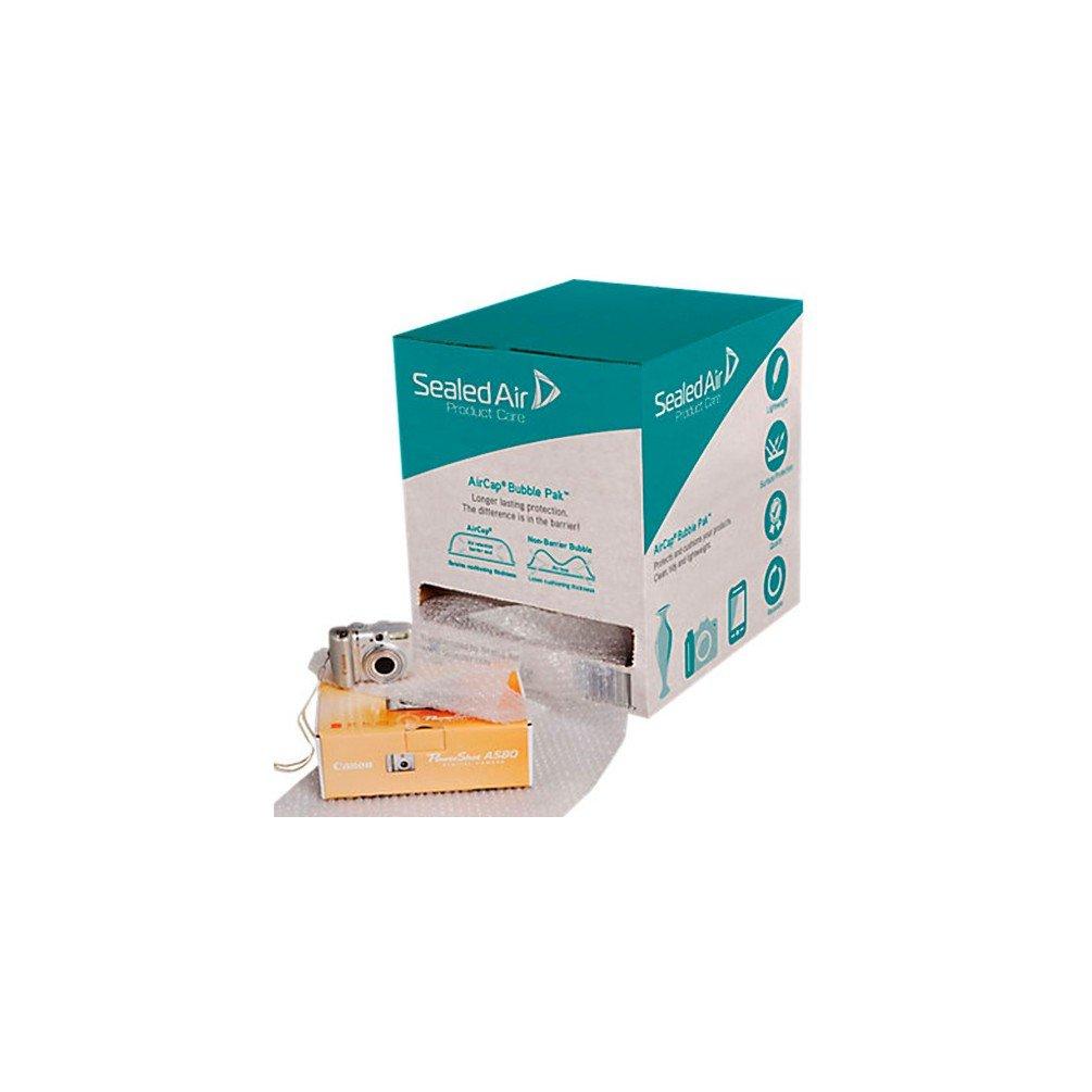 Cenpac - Film bulles AIRCAP de 50 M prédécoupé en boîte distributrice BUBBLE PAK - 360832 - DIAMWOOD