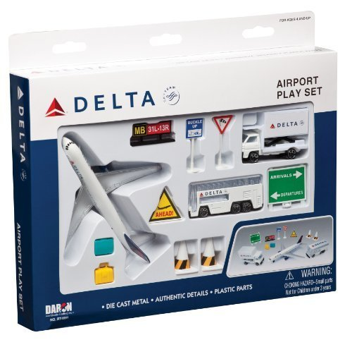 Delta Airlines 12 Piece Playset by Daron Worldwide Trading inc