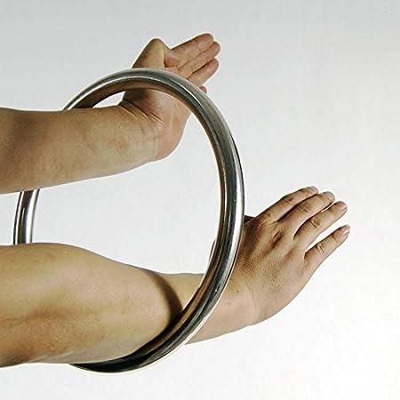 Hotour Wing Chun Stainless Ring Yewen Sau Sticky Hand Strength Training Tsun Siu Lum Kung Fu