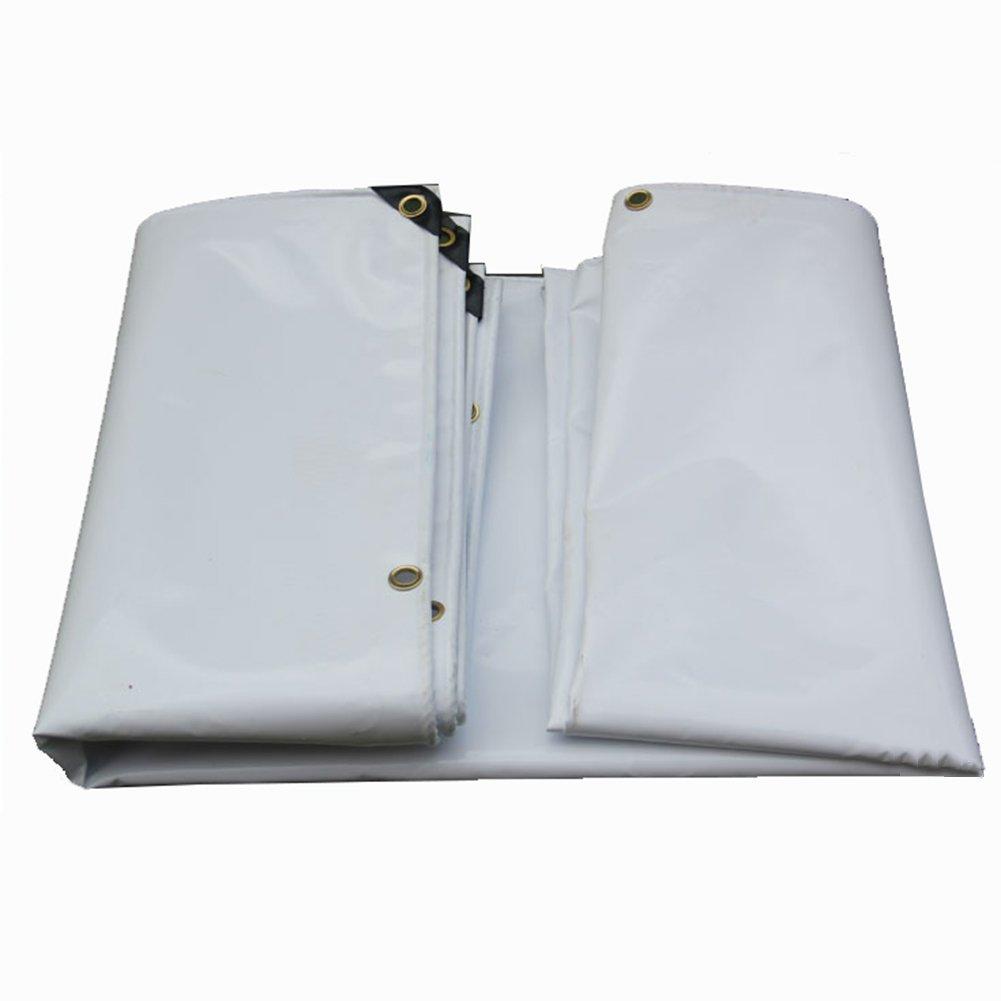JIANFEI オーニング 防水 耐寒性 高強度気密性良好PVC、厚さ0.55mm 4色カスタマイズ可能 (色 : 白, サイズ さいず : 3x4m) B07FPFN4H1 3x4m 白 白 3x4m
