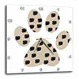 3D Rose dpp_123328_2 3dRose Dalmation Spots Paw Print Dogs Animals-Wall Clock 13-inch