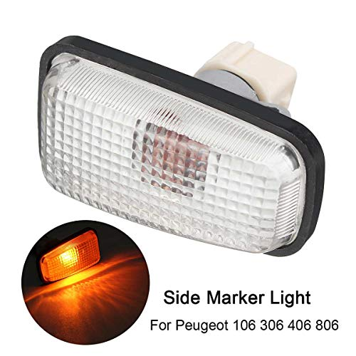 Gift-4Car - 12V Side Marker Light Repeater Lamp Fit For Peugeot 106 306 406 806 632567 Car Parts Turn Signal Lamps Light