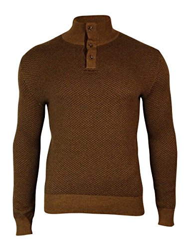 - Polo Ralph Lauren Men's Buttoned Collar Herringbone Sweater (S, Camel)