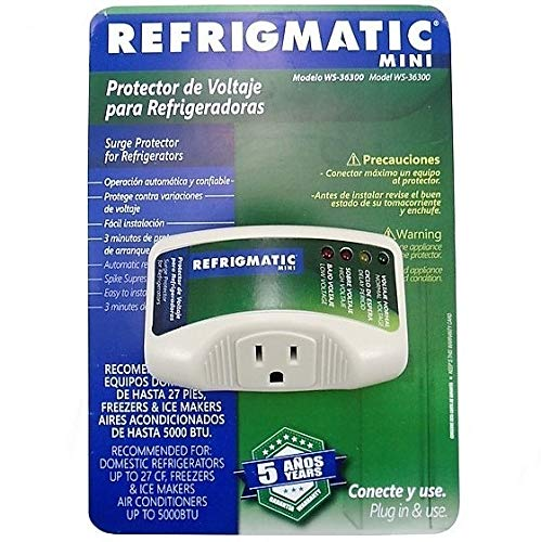 Surge Protection Low Voltage - Refrigmatic WS-36300 Electronic Surge Protector for Refrigerator Up to 27 cu. ft.