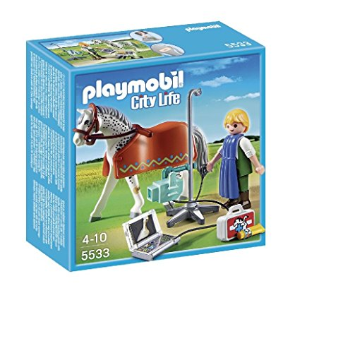 PLAYMOBIL Horse with X-Ray Technician Building Kit ()