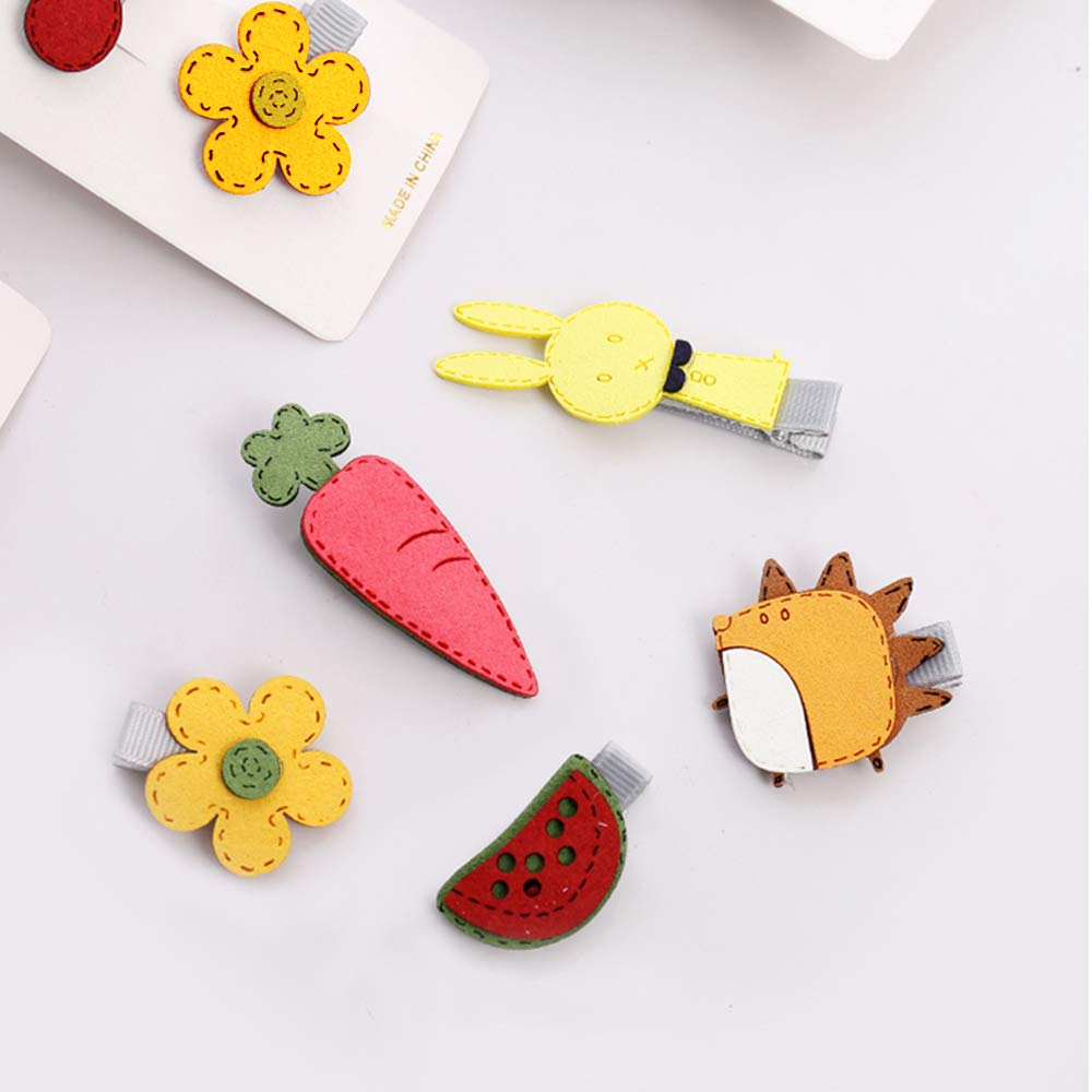 Geometric Hair Accessories Fashion Wooden Barrettes Simple Women Girls Cartoon Hair Clips New Candy Color Heart-shaped Hairpins