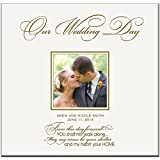 Personalized Wedding Photo Albums Our Wedding Day Holds 200 4x6 Photos Custom Made Wedding Anniversary Gifts By Dayspring Milestones