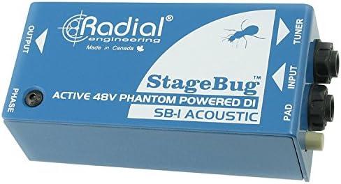 Radial StageBug SB-1 Active Acoustic DI – Caja directa de 48 V con ...