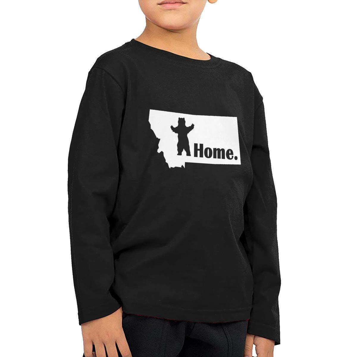 COTDREN Montana Standing Bear Home Boys Cotton Long Sleeve Tshirt