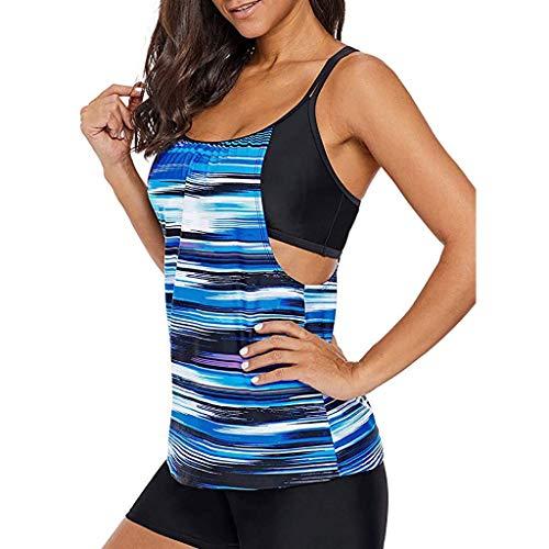 Damen Bikini Set Zweiteiler Badeanzug Bademode Push up Bandage Strand Sommer HJ