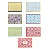 Two's Company Pattern Play 48-Piece Placemat Table Décor