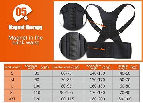 男性、女性、子供の体位補正装置、最高に調整可能なサポートブレース、姿勢を改善し、腰椎のサポートを提供します。 (Color : Black)