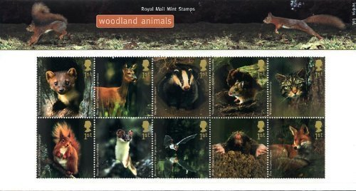 (2004 Woodland Animals Stamps In Presentation Pack Royal Mail No.363)