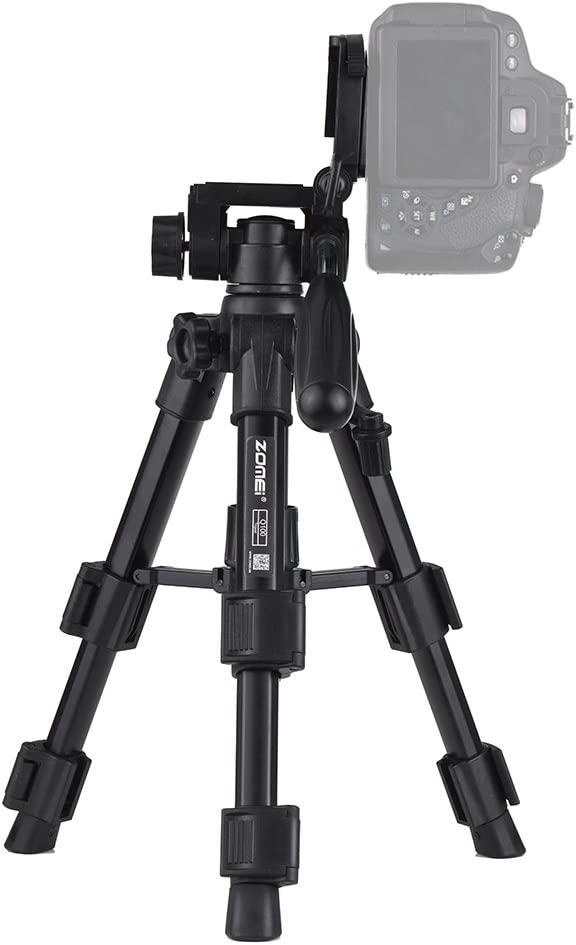 Walmeck ZOMEI Q100 52cm//20 Lightweight Portable Aluminum Camera Travel Mini Tabletop Tripod with Quick Release Plate//Carry Bag for Canon Nikon Sony DSLR Smartphone