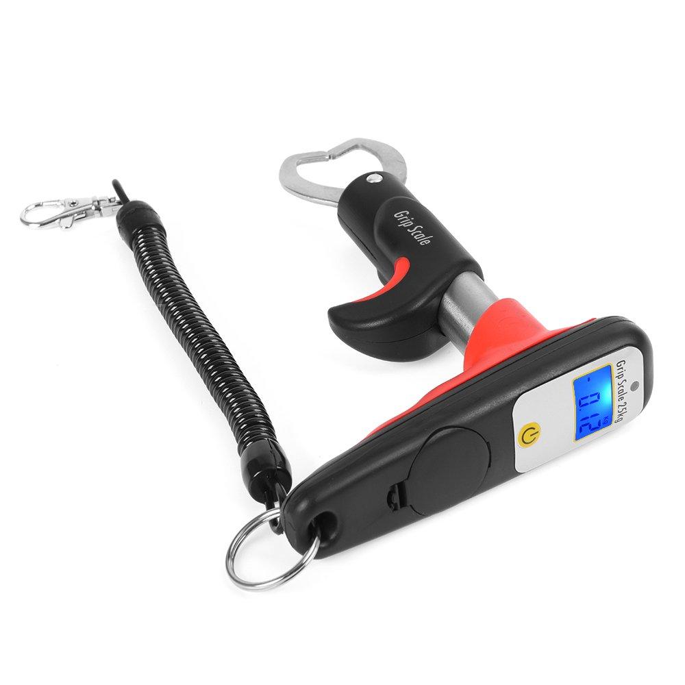 Lixada Mini Fish Lip Grabber Gripper Pesca Lip Grip Tool Fish Holder con 55LB Digital Scale