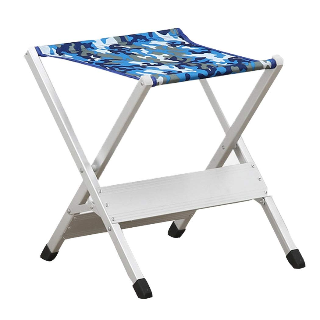 Folding Stool Folding Mazar Camping Folding Chair Aluminum Alloy Oxford Cloth Outdoor Folding Chair (Color : Blue, Size : 4139cm)