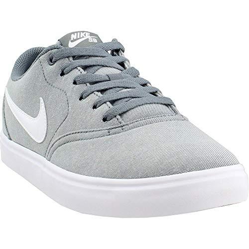b8b136b0e21 Nike 843896-003  SB Check Solar Canvas Mens Cool Grey White Sneakers ...