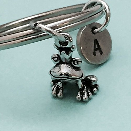 - Frog prince keychain, frog prince charm, animal keychain, personalized keychain, initial keychain, customized, monogram