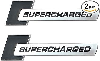 Yoaoo-oem 2pcs 3d OEM Supercharged Badge Emblem Stickers for Audi A3 A4 A5 A6 Q3 Q5 Q7 S4 S6 Tt by Yoaoo-oem