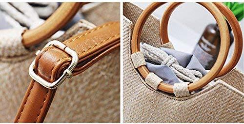 Bolso Tejido Sólida Paja color Madera Tamaño La Taleguilla Solo Eeayyygch De UBwxq850Y