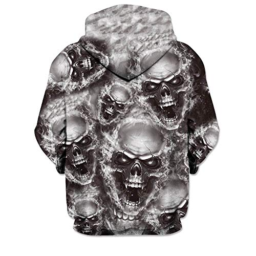 SMALLE ◕‿◕ Clearance,Mens 3D Printed Skull Pullover Long Sleeve Hooded Sweatshirt Tops Blouse by SMALLE (Image #2)