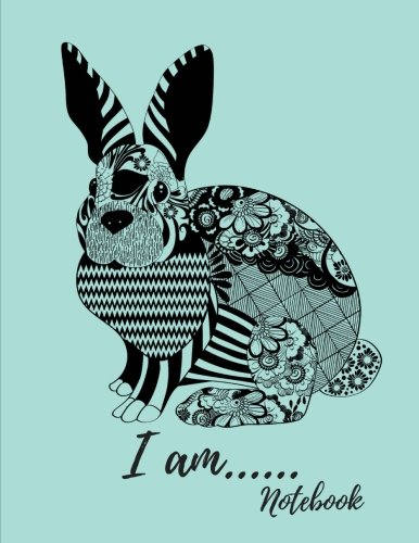 - I Am.........Notebook: Patchwork Lace Bunny Rabbit Journal 8.5 x 11 Best 100 Page College Ruled Composition Planner for School Doodles, Drawings and Writing Notes