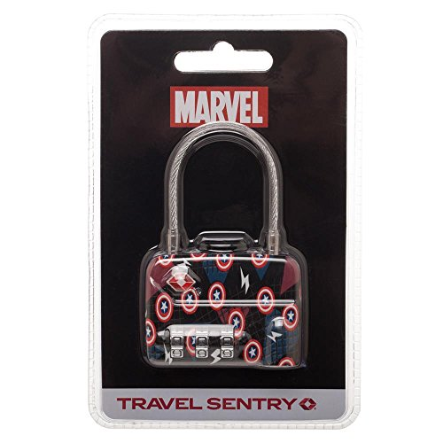 Captain America TSA Approved Travel Luggage Combination Cable Lock by Bioworld