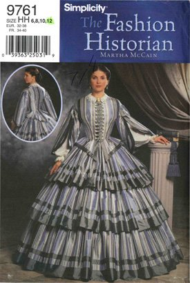 Civil War Dress Gown (Simplicity Sewing Pattern 9761 Civil War Dress / Gown, Sizes)