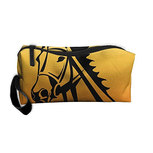 Horse Animal Pouch Makeup Cosmetic Bag Accessory Case Wear Resistance For Couple by Zhaoqian