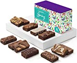 Fairytale Brownies Spring Sprite Dozen Gourmet Chocolate Food Gift Basket - 3 Inch x 1.5 Inch Snack-Size Brownies - 12 Pieces - Item HR212SP
