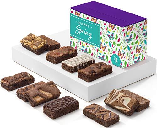Fairytale Brownies Spring Sprite Dozen Gourmet Chocolate Food Gift Basket - 3 Inch x 1.5 Inch Snack-Size Brownies - 12 Pieces - Item HR212SP by Fairytale Brownies (Image #3)